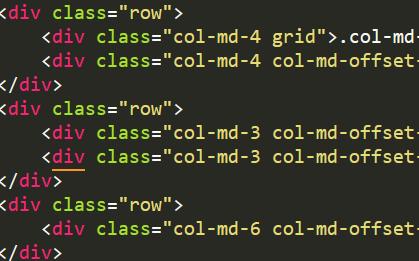 Bootstrap栅格布局的列偏移实例