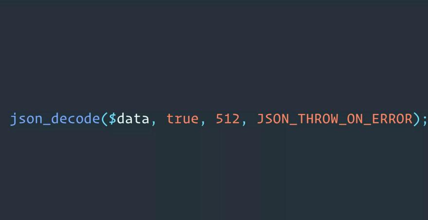 看看PHP 7.3新版本中的JSON错误处理