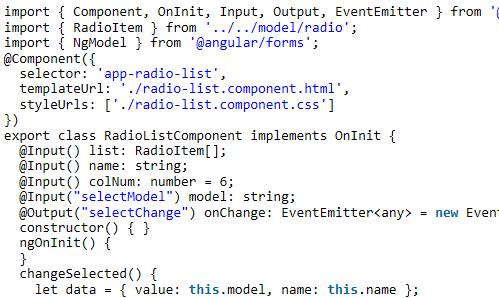 Angular5中提取公共组件之radio list的实例代码_AngularJS
