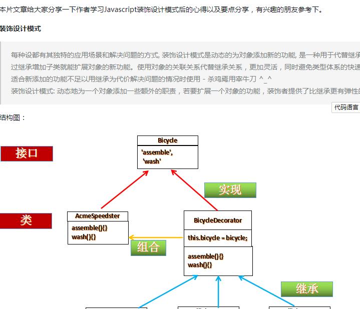 详细解读js中装饰设计模式