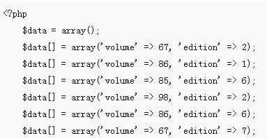 使用PHP中array_multisort() 函数进行多维数组排序的实现
