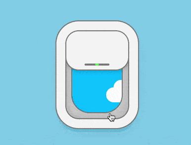 如何使用纯CSS实现飞机舷窗风格的toggle控件