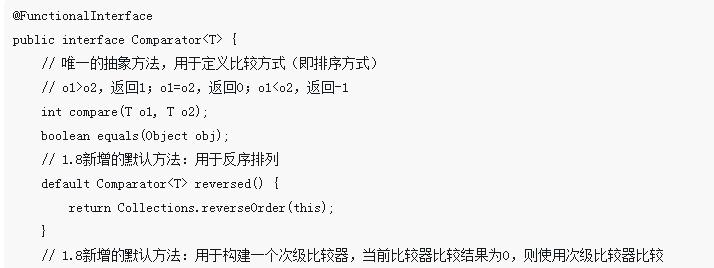 Java中Comparable和Comparator的对比介绍(代码示例)