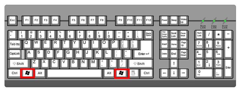 windows徽标键是哪个?