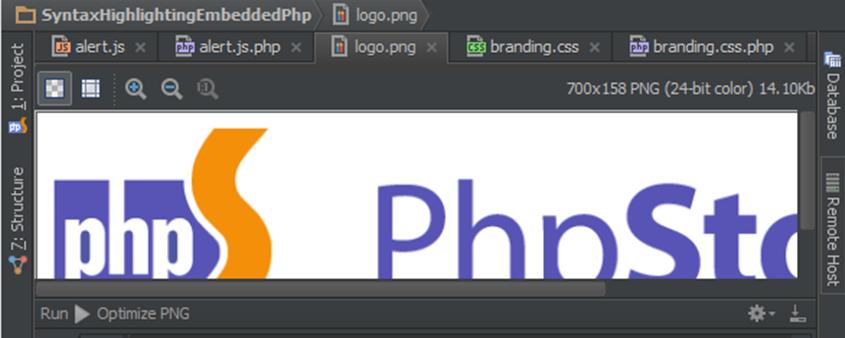 如何在PhpStorm中設置和運行外部工具OptiPNG