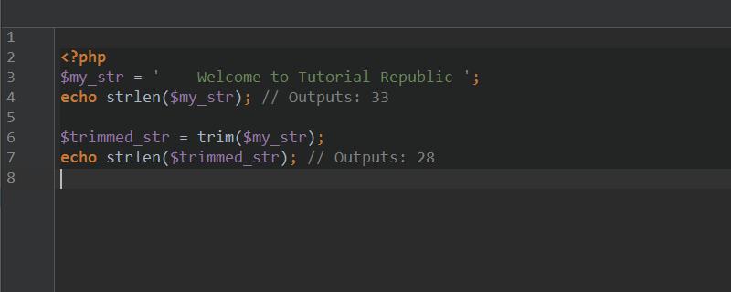 PHP如何删除字符串中的空格