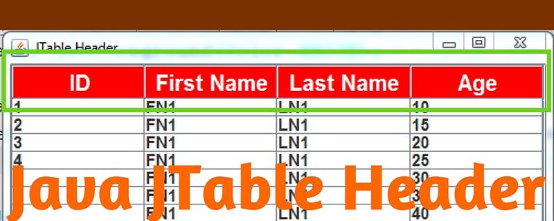 如何使用JTable创建Java表