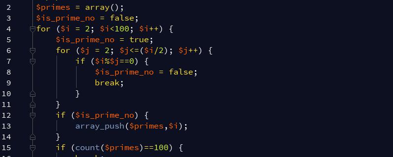 如何用PHP计算小于100的素数之和?