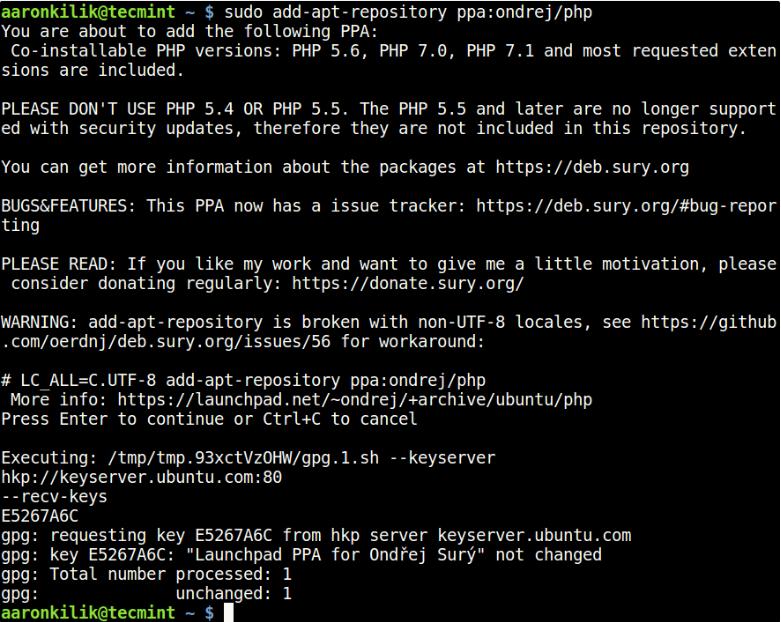 如何在Ubuntu中安装不同的PHP(5.6,7.0和7.1)版本?