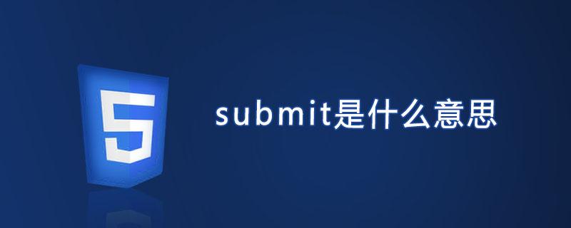 submit是什么意思?