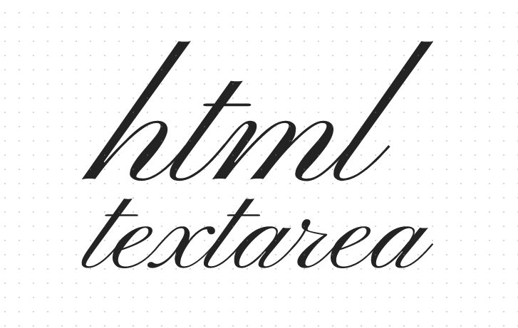 html textarea是什么意思?如何获取textarea标签中的换行符和空格?