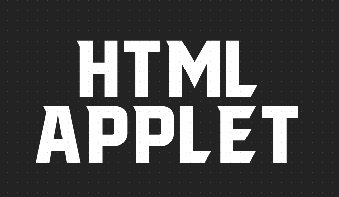 html applet标签是什么意思?html applet标签的用法详解