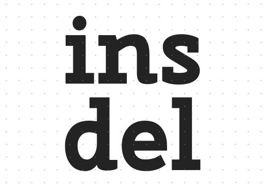 HTML中插入文本ins标签和删除文本del标签如何一起使用?(附实例