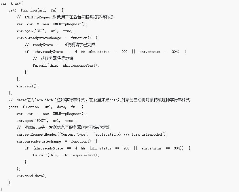 原生js如何实现Ajax方法?原生JS实现Ajax方法介绍(附代码)