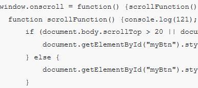 纯JS实现点击按钮返回页面顶部的代码
