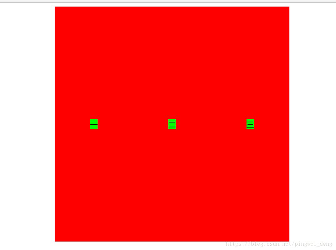 多个div垂直居中横向排列(附代码)