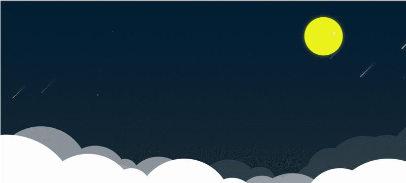 CSS 、JS实现浪漫流星雨动画