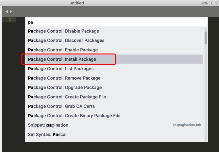 Sublime Text3插件安装及问题处理