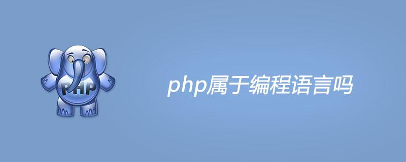 php屬于編程語言嗎