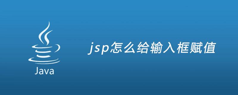 jsp怎么给输入框赋值