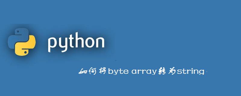 如何利用Python将byte array转为string