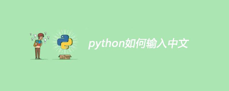 python如何輸入中文