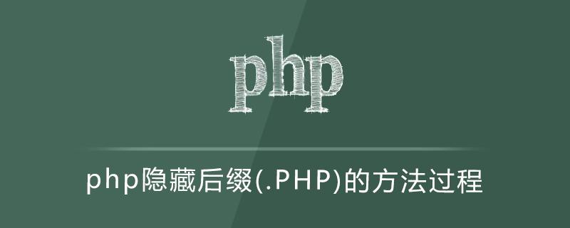 php隱藏后綴(.PHP)的方法過程