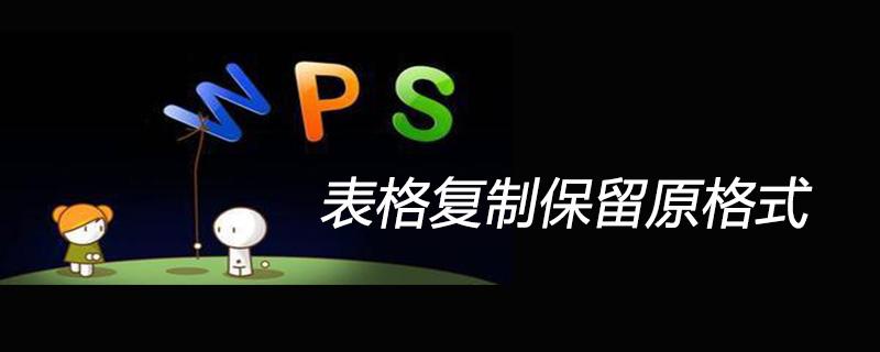 wps表格复制表格保留原格式的方法
