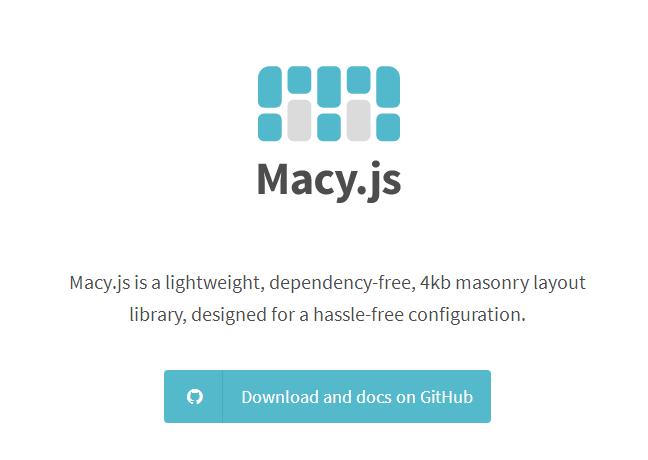超轻量级网页流布局JS插件Macy.js