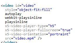 html5 video 移动端详解