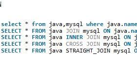 Mysql中的join操作实例分享