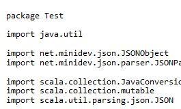 Scala解析Json字符串实例详解