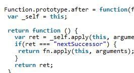 JavaScript职责链模式实例方法