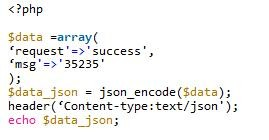 PHPAPI接口输出json格式数据示例代码