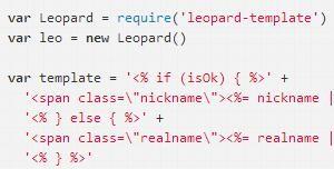 一个简单的HTML模板引擎