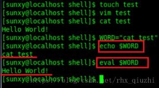 Linux之eval命令使用方法详解