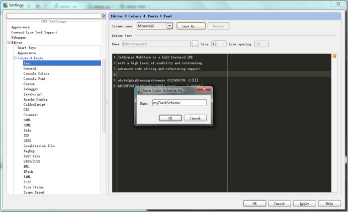 WebStorm怎么自定义用户设置