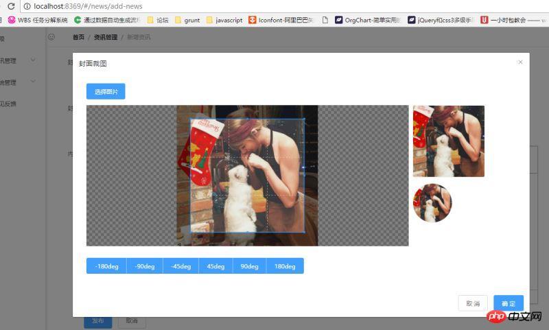 使用vue-cli结合Element-ui在cropper js基础上封装vue来实现图片