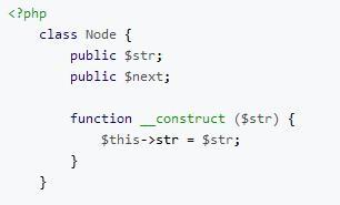 php 实现链表逆序