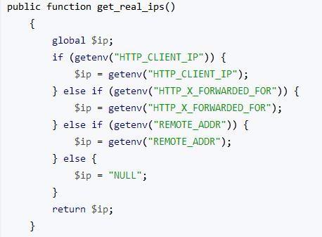 PHP 获取用户行为[IP/OS/URL/Broswer]参考代码