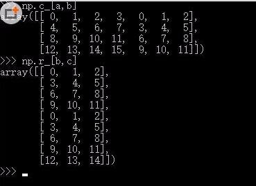 numpy 进行数组拼接,分别在行和列上合并的实例