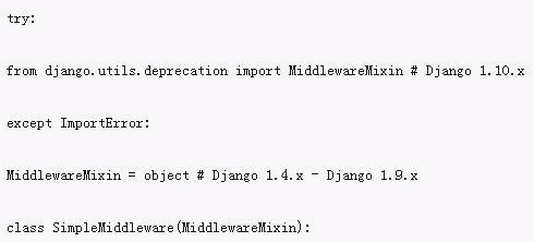 Django中间件实现拦截器的方法