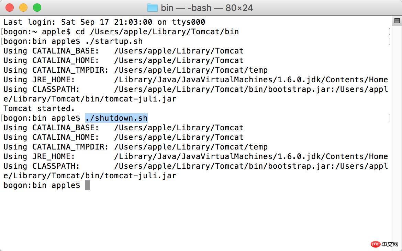 Mac环境下配置tomcat