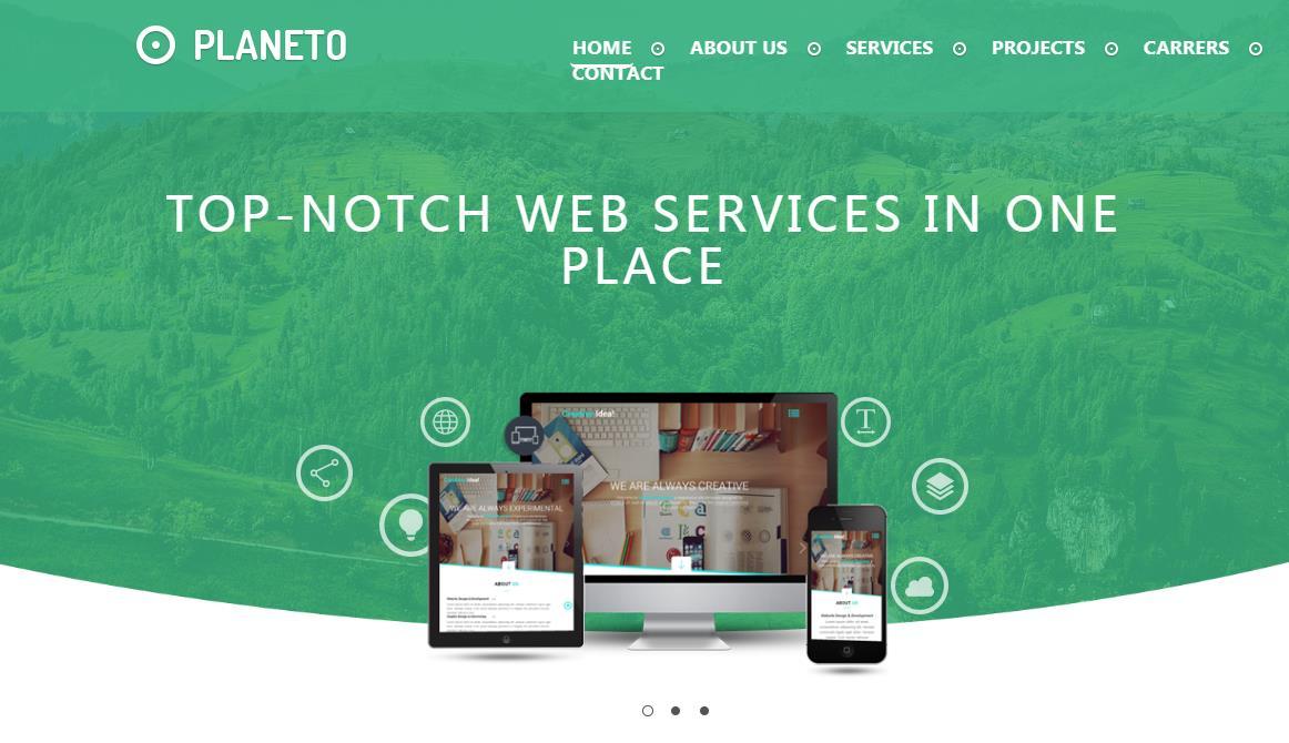 绿色简洁大气的环保公司网站模板