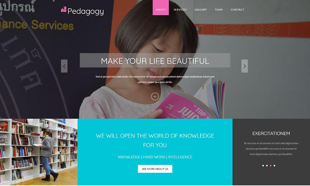 大气html5儿童教育培训网站介绍模板