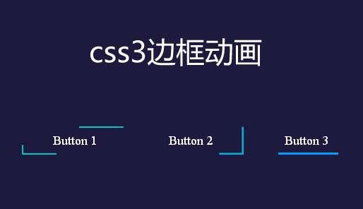 纯css3 svg鼠标经过按钮边框线条动画特效