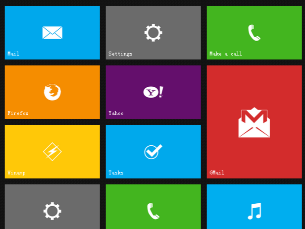 Win8风格Metro界面平板响应式导航特效代码