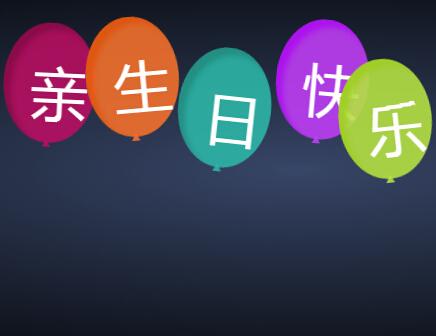 纯CSS3实现的漂浮生日气球特效代码