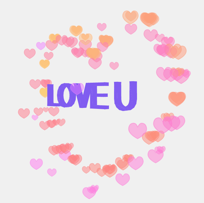 html5酷炫3D love文字动画特效