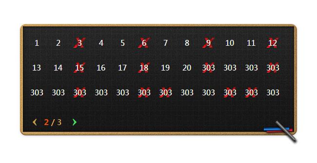 jquery animated滑动切换分页显示代码